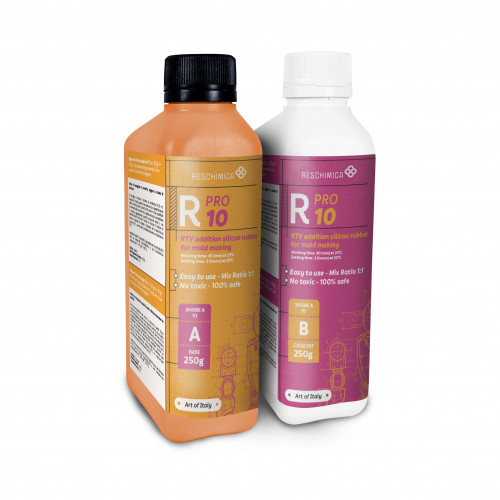 Non-toxic Rubber R Pro 10 for soft professional molds | Reschimica