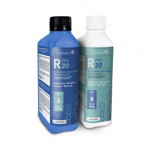 Rubber R Pro 20 for semi-soft professional molds | Reschimica