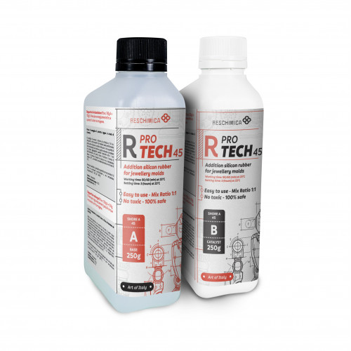 R PRO TECH 45 Transparent rubber for jewelry molds